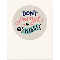 Michelle Carlslund - Poster, Don't Forget to Kiss
