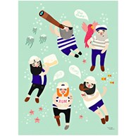 Michelle Carlslund - Poster, Sailor Friends