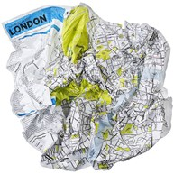 Karta - Crumpled City Map, Paris