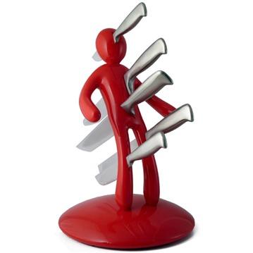 Voodoo knivställ med 5 knivar