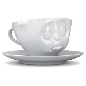 Kaffekopp med ansikte