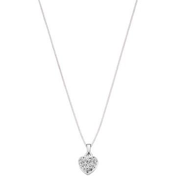 Halsband - hjärta med cubic zirkoner