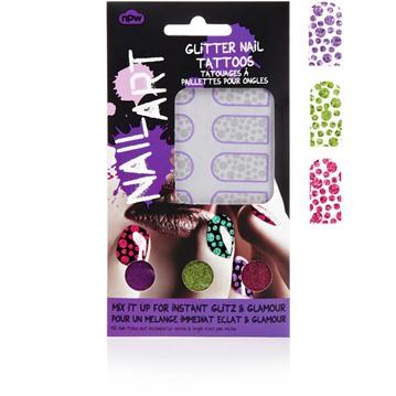 Nail Art - Nageltatuering, glitter