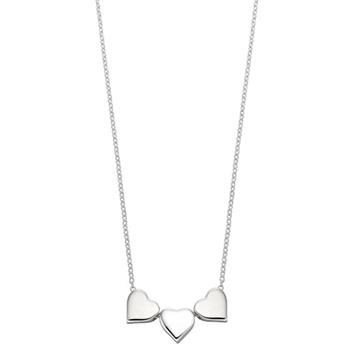Silverhalsband - hjärtan