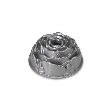 Nordic Ware Kakform - Blommor & Hjärtan, Stor ros