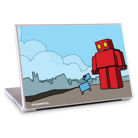 Gelaskins dekor till 15 tum laptop Red Robot leaving the city
