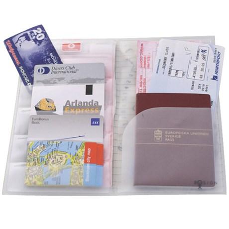 Resefodral för pass, biljetter & kartor