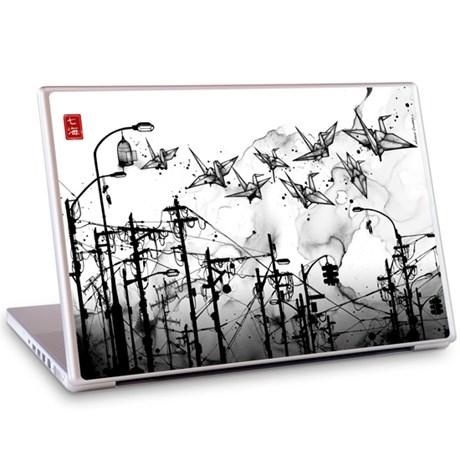 Gelaskins dekor till 15 tum laptop Cable Cranes