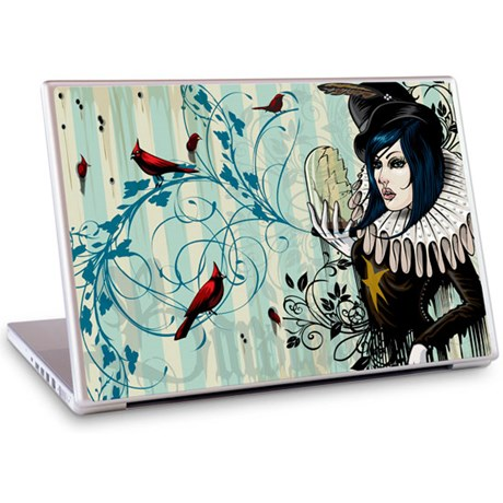Gelaskins dekor till 15 tum laptop Lady Baroque