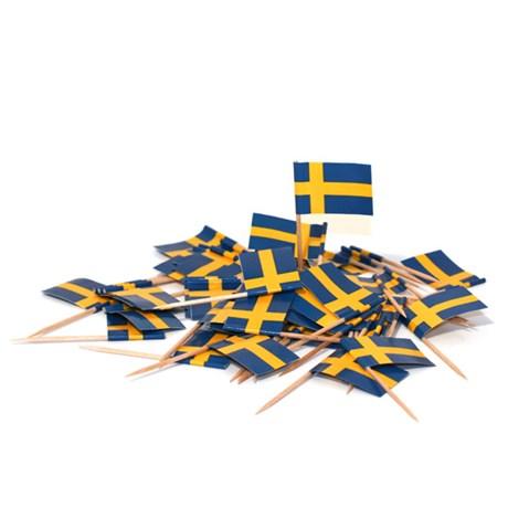 Flaggor på tandpetare