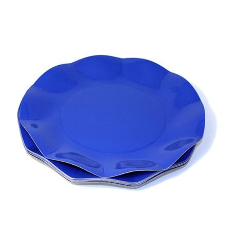 Engångsartiklar till fest blå Små desserttallrikar (10-pack)