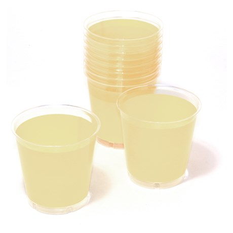 Engångsartiklar till fest vanilj Plastglas (10-pack)