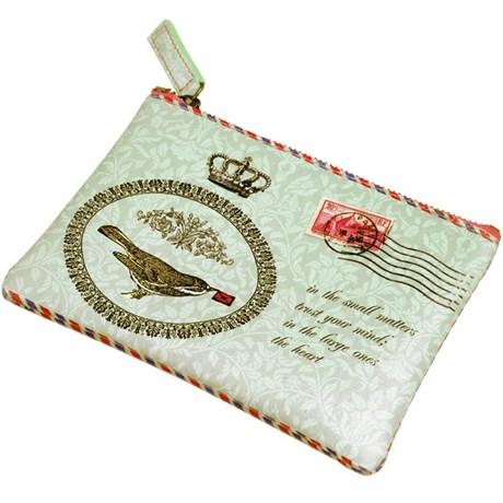 Resetillbehör med brevmotiv i vintagestil