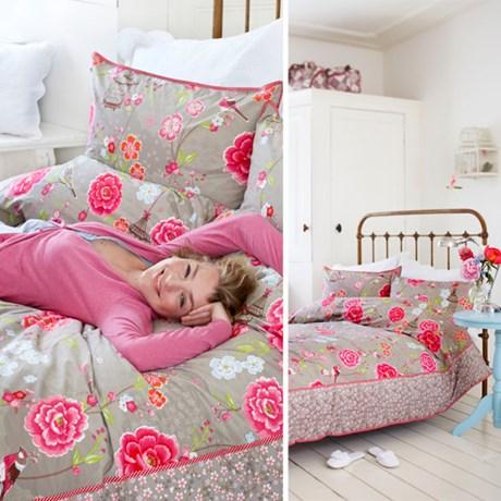 PiP Studio sängkläder – Birds in Paradise, khaki