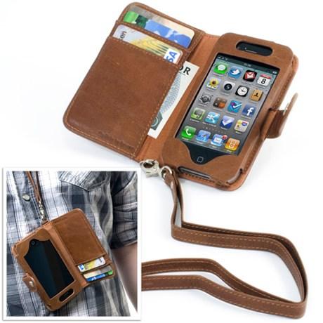 iPhonefodral i läder med band