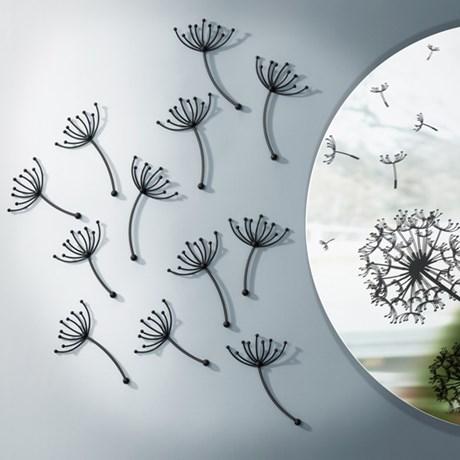 Väggdekor – Maskrosfrön Svart