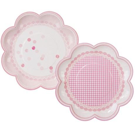 Engångsartiklar till kalas- och festdukning, rosa