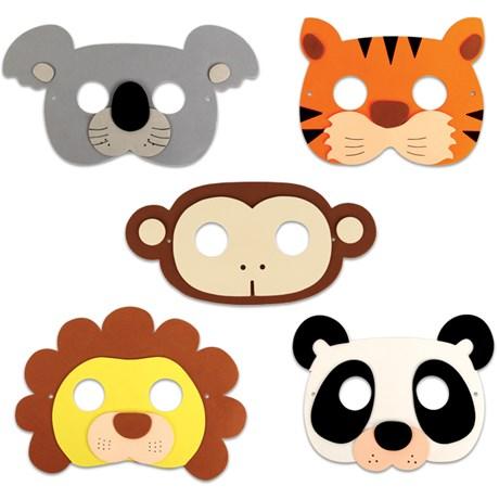 Maskeradmasker för barn (5-pack)