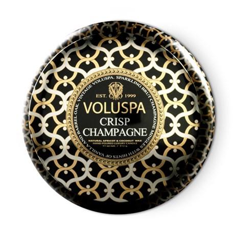 Voluspa – Maison Noir Crisp Champagne (50h) Doftljus i metallburk