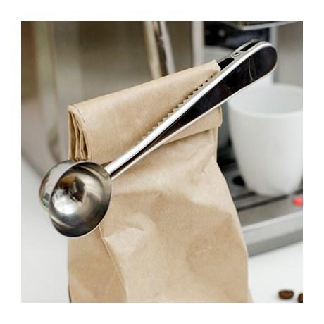 Kaffemått med klämma Silver