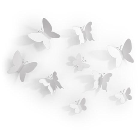 Väggdekor – Mariposa, Fjärilar (9-pack)