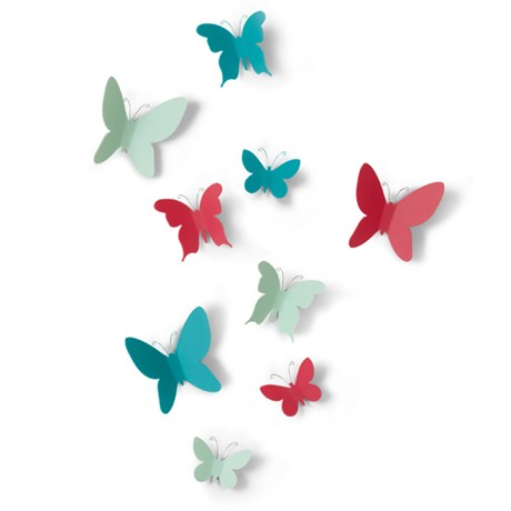 Väggdekor – Mariposa Fjärilar (9-pack) Blandade färger