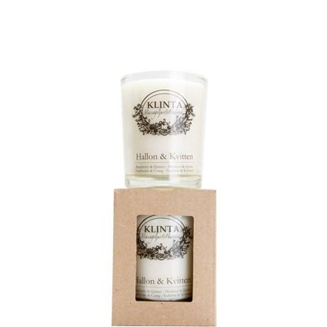 Klinta massageljus / doftljus – Hallon & Kvitten