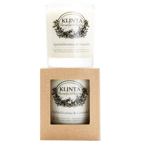 Klinta massageljus / doftljus – Apelsinblomma & Lavendel Stort – 45 h