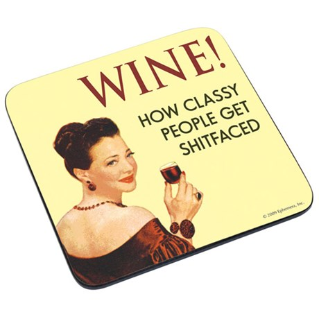 Glasunderlägg i retrostil – Vin