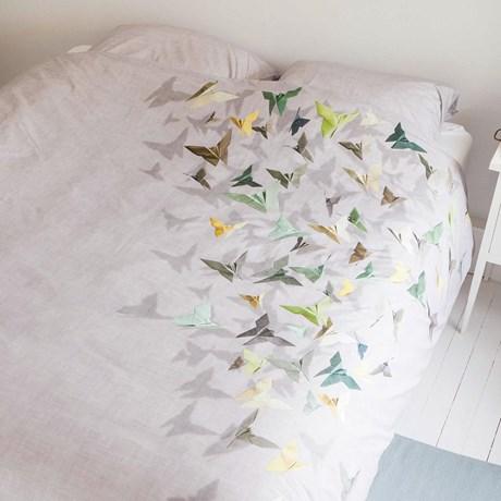 Snurk sängkläder, enkelsäng – Fjärilar