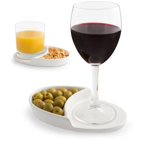 Glasunderlägg med plats för snacks – Nibble