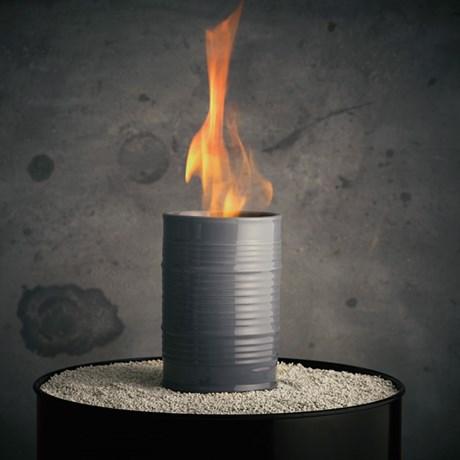 Oljelampa – Barrel, grå