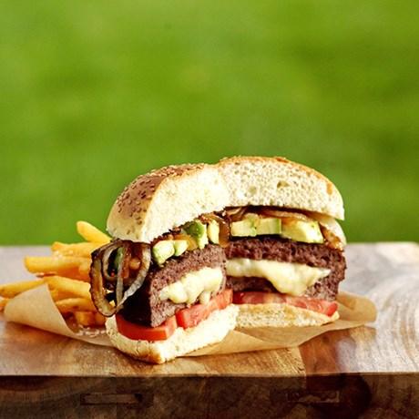 Nordic Ware – Hamburgerpress, fyllda burgare