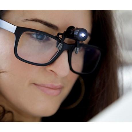 Clip-on läslampa för glasögon