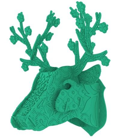 MIHO – Hjorttrofé i plast, grön