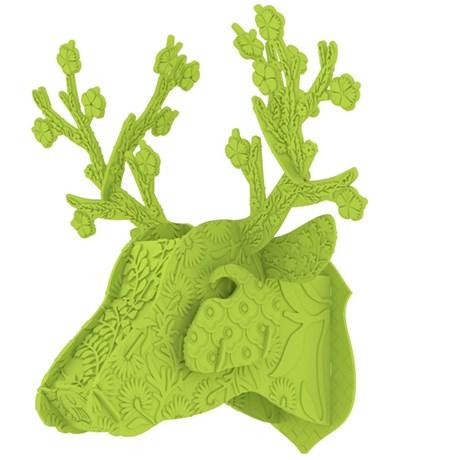 MIHO – Hjorttrofé i plast grön Limegrön