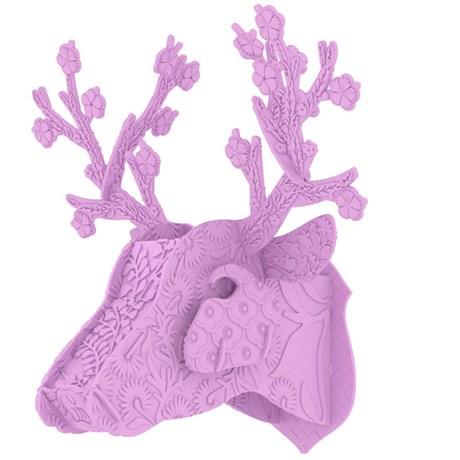 MIHO – Hjorttrofé i plast rosa/lila Ljuslila