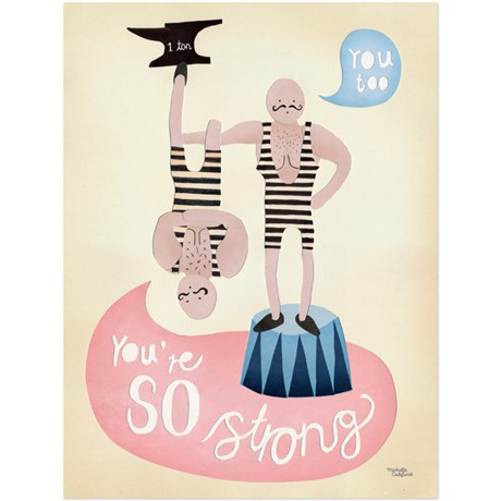 Michelle Carlslund – Poster You're so Strong 50 x 70 cm