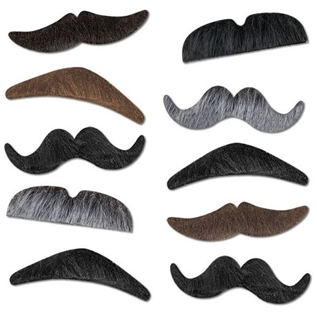 Lösmustascher – Mustache Party (10-pack)