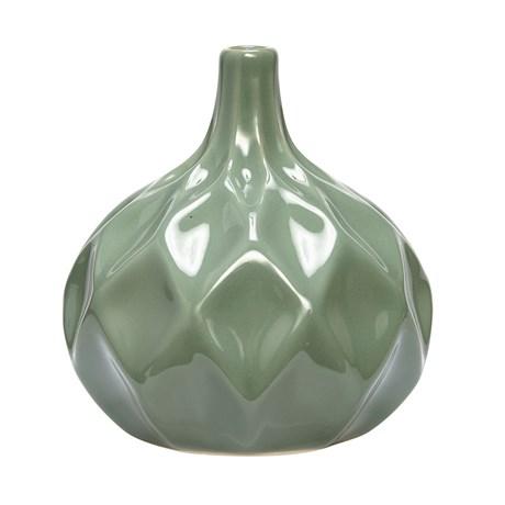 Hübsch – Keramikvas med diamantmönster