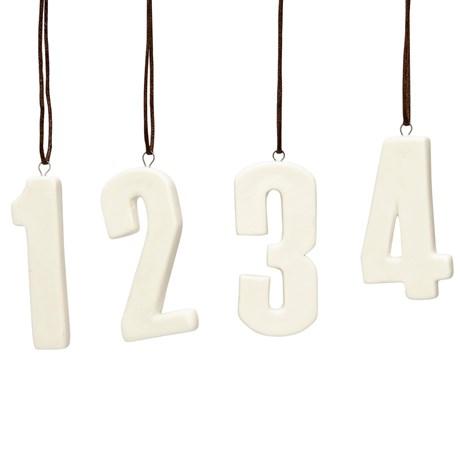 Hübsch – Siffror i keramik (1, 2, 3, 4)