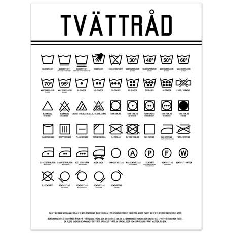 Poster – Tvättråd 30 x 40 cm