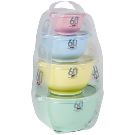 Rosti Mepal – Margrethe-skålar i retrofärger (4-pack)
