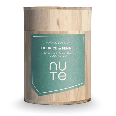 NUTE Svart te – Licorice & Fennel
