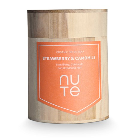 NUTE Grönt te – Strawberry & Camomille