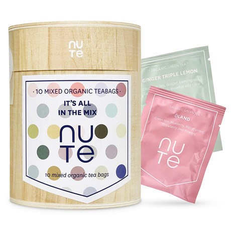 NUTE – Träask med tepåsar (10 st)