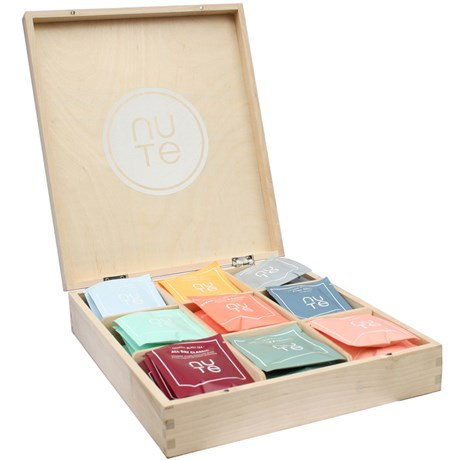NUTE – Telåda med tepåsar (45/90 st)