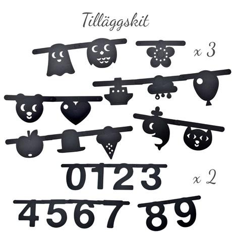 Bokstavsbanner – väggdekoration Symboler & siffror