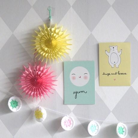 Minisolfjädrar i silkespapper (6-pack)
