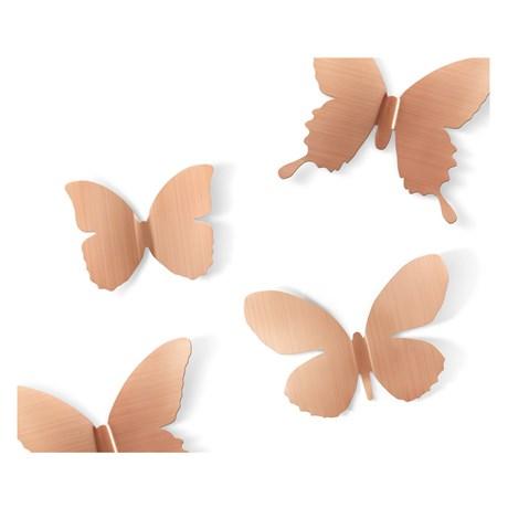 Väggdekor – Metal Mariposa, Fjärilar (9-pack)